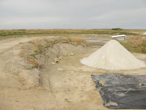 Salt pile in Guérande, France