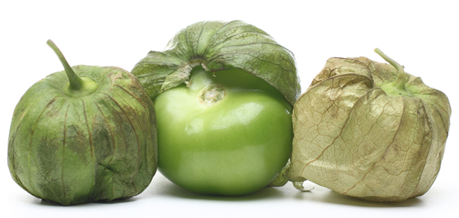 Tomatillos with husks