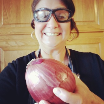 Denise, glasses, and onion